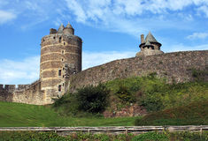 Le château de Fougeres Image libre de droits
