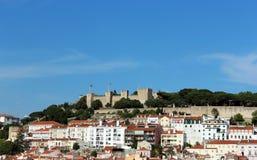 Le château de George de saint à Lisbonne Photographie stock