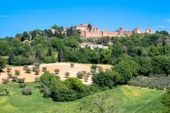 Le château de Gradara en Italie Photo stock