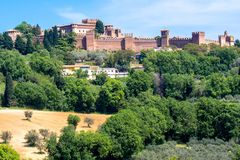 Le château de Gradara en Italie Photo libre de droits