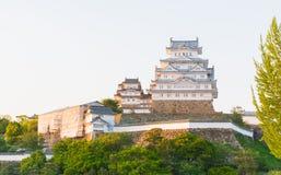 Le château de Himeji est un complexe japonais de château de sommet situé dans salut Image libre de droits