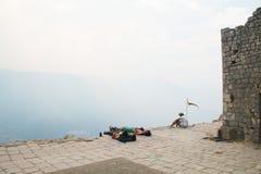 Le château de Kotor dans Monténégro Images libres de droits