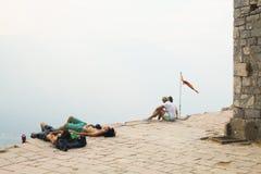 Le château de Kotor dans Monténégro Photo libre de droits