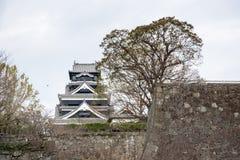 Le château de Kumamoto est un château japonais de sommet, Kumamoto dans Kumamo Images libres de droits