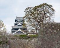 Le château de Kumamoto est un château japonais de sommet, Kumamoto Japon Images stock