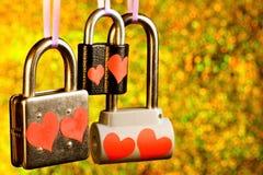 Le château de l'amour est un cadenas, un symbole des sentiments des amants et des nouveaux mariés entre eux, un engagement de l photos libres de droits