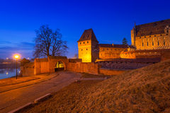 Le château de l'ordre Teutonic dans Malbork Photo libre de droits