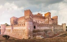 Le château de la La Mota est un château qui est situé dans la ville de la Médina del Campo, province de Valladolid, Espagne photo stock