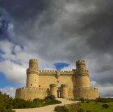 Le château de Manzanares el Real, Madrid. Photo libre de droits