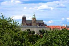 Le château de Prague dans la République Tchèque Photo libre de droits