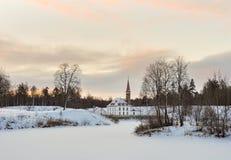 Le château de prieuré images libres de droits