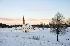 Le château de prieuré image libre de droits