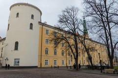 Le château de Rigas est un château sur les banques de la dvina occidentale de rivière en capitale letton Riga, résidence du prési images stock