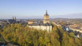 Le château de Schwanenburg dans Cleves, Allemagne photographie stock libre de droits