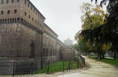 Le château de Sforzas - Milan Images libres de droits