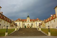 Le château de Valtice dans la République Tchèque, la ville a été fondé dans le 13ème centure Photographie stock