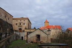 Le château de Veveri dans la République Tchèque Images libres de droits