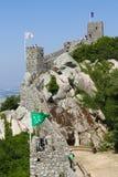 Le château du amarre dans Sintra, Portugal image stock
