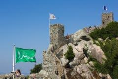 Le château du amarre dans Sintra, Portugal image libre de droits