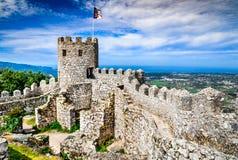 Le château du amarre, Sintra, Portugal Photo libre de droits