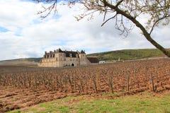 Le château du Clos de Vougeot en Bourgogne Image stock