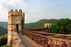 Le château du Serravalle, Bosa, Sardaigne Photographie stock libre de droits