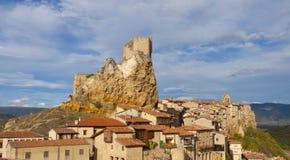 Le château Frias de ville est un Espagnol Image libre de droits