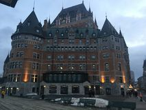 Le Château Frontenac royalty free stock photography