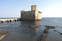 Le château historique de Torre Astura Image libre de droits