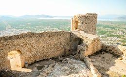 Le château Larissa images stock