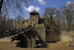 Le château Lukov en Moravie Photographie stock