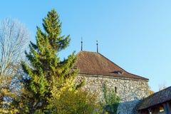 Le château médiéval de Gruyeres, Suisse Images libres de droits