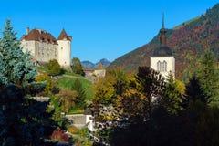 Le château médiéval de Gruyeres, Suisse Image libre de droits