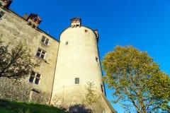 Le château médiéval de Gruyeres, Suisse Images stock
