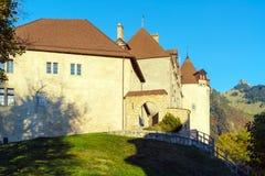 Le château médiéval de Gruyeres, Suisse Photo stock