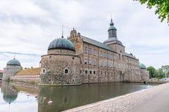 Le château médiéval de Vadstena en Suède Photographie stock