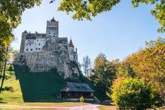 Le château médiéval du son Voyage et vacances vers l'Europe, visite beau jour ensoleillé, l'espace de copie Brasov, la Transylvan photo stock