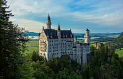 Le château majestueux de Neuschwanstein Photo libre de droits