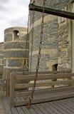 Le château ouvert de pont-levis de irrite Image libre de droits