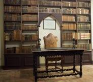 Le château Pallotta dans Caldarola, Italie Photographie stock libre de droits