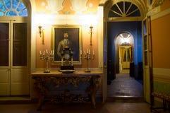 Le château Pallotta dans Caldarola, Italie Photo stock