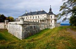 Le château polonais dans Podhorce, Ukraine images libres de droits