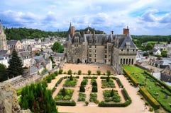 Le château royal de Langeais, la Loire photo libre de droits