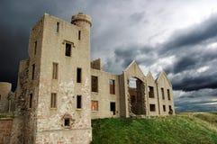 le château ruine des slains de l'Ecosse photographie stock