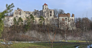Le château ruine Tenczyn Images libres de droits