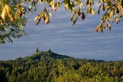Le château ruine Trosky Photographie stock libre de droits