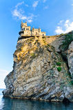 Le château sur la roche Photos stock