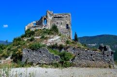 Le château Zuccarello, Savona, Italie Image libre de droits