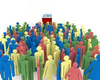 Le chômage Photos libres de droits