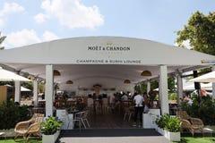 Le champagne de Moet et de Chandon a présenté à Miami 2019 s'ouvrent au stade de hard rock à Miami photo stock